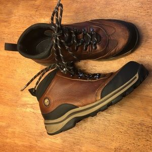 """Leather Timberland """"Backroad Hiker"""" Lace-up Boots"""